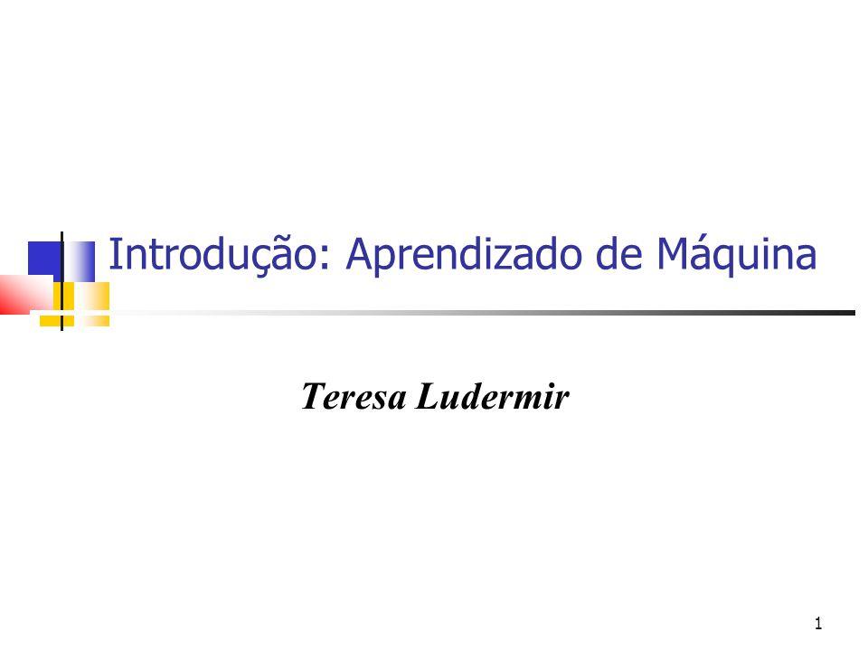 1 Introdução: Aprendizado de Máquina Teresa Ludermir