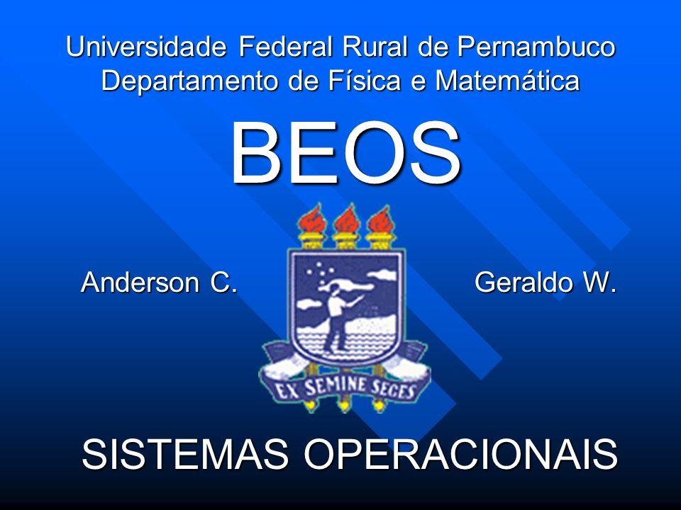 Universidade Federal Rural de Pernambuco Departamento de Física e Matemática SISTEMAS OPERACIONAIS BEOS Anderson C.