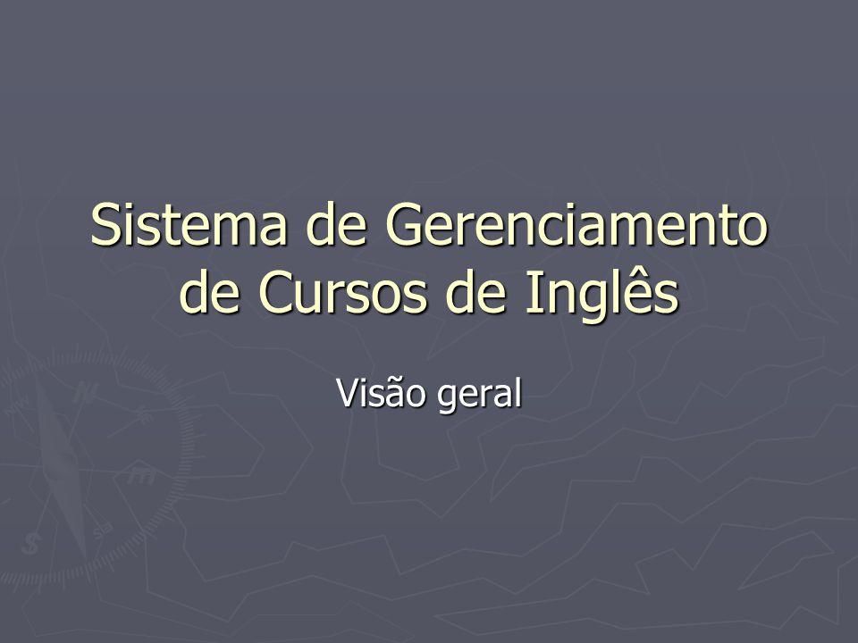 Sistema de Gerenciamento de Cursos de Inglês Visão geral