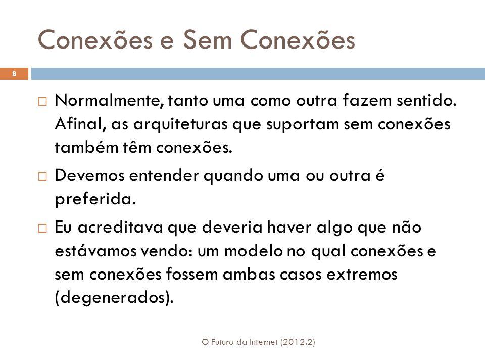 Conexões e Sem Conexões O Futuro da Internet (2012.2) 8  Normalmente, tanto uma como outra fazem sentido.