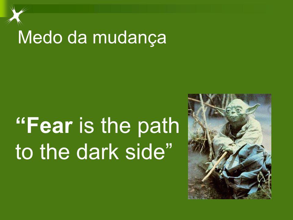 "Medo da mudança ""Fear is the path to the dark side"""