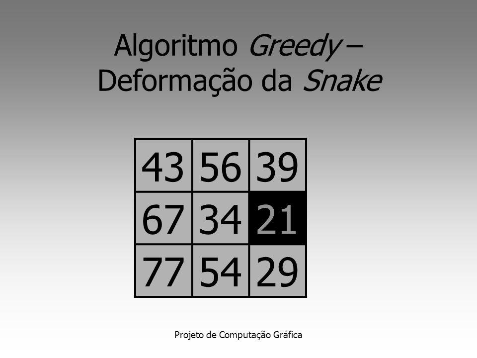 Projeto de Computação Gráfica Algoritmo Greedy – Deformação da Snake