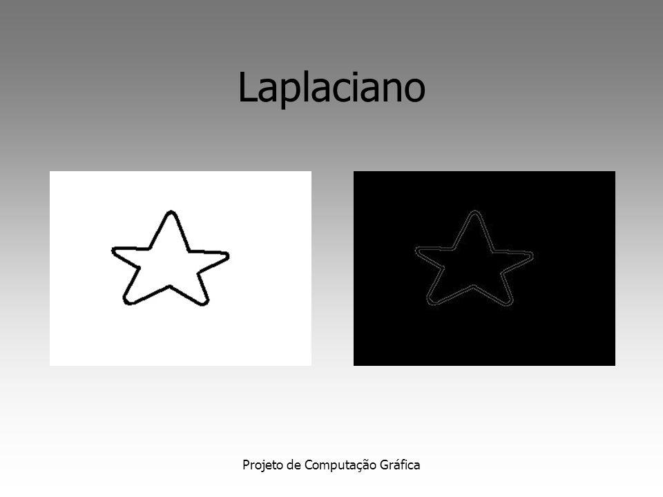 Projeto de Computação Gráfica Laplaciano Informação direcional não disponível; Aumenta o ruído nas imagens Calculado por aproximação discreta, através