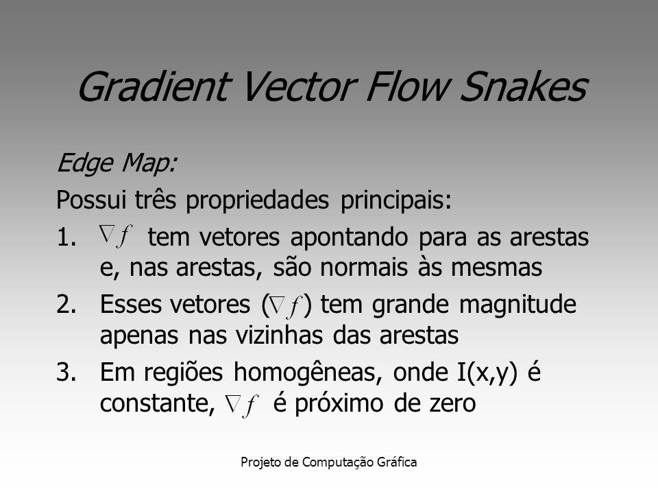 Projeto de Computação Gráfica Gradient Vector Flow Snake Edge Map: - para imagens em preto e branco - para imagens em tons de cinza