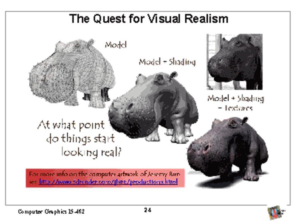 Texturas em OpenGL Construa sua imagem de textura –Dimensões da imagem devem ser 2 n por 2 m –Este código assume imagens coloridas usando RGB Pic *in; Gluint texname; in = tiff_read(filename,NULL); glGenTexture(1,&texname); glBindTexture(GL_TEXTURE_2D,texname); glTexParameteri(GL_TEXTURE_2D,GL_TEXTURE_WRAP_S,GL_REPEAT); glTexParameteri(GL_TEXTURE_2D,GL_TEXTURE_WRAP_T,GL_REPEAT); glTexParameteri(GL_TEXTURE_2D,GL_TEXTURE_MAG_FILTER,GL_NEAREST); glTexParameteri(GL_TEXTURE_2D,GL_TEXTURE_MIN_FILTER,GL_NEAREST); glTexImage2D(GL_TEXTURE,0,GL_RGB,in->nx,in->ny,0,GL_RGB, GL_UNSIGNED_BYTE,in->pix);