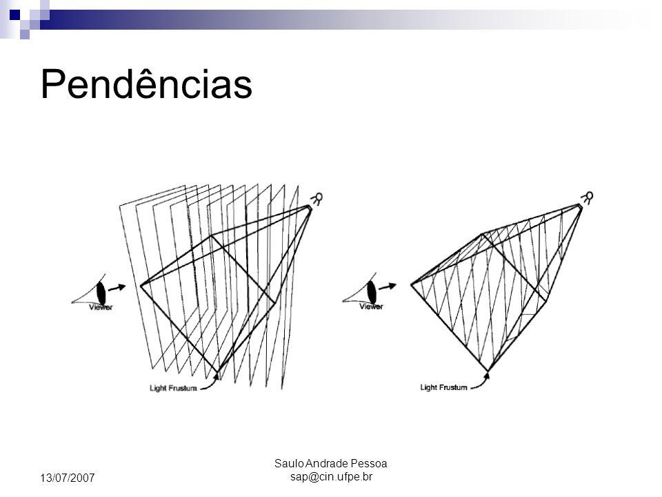 Saulo Andrade Pessoa sap@cin.ufpe.br 13/07/2007 Pendências
