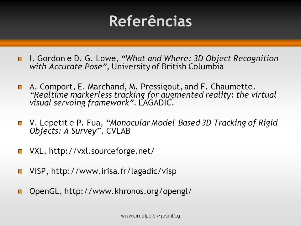 Referências I. Gordon e D. G.