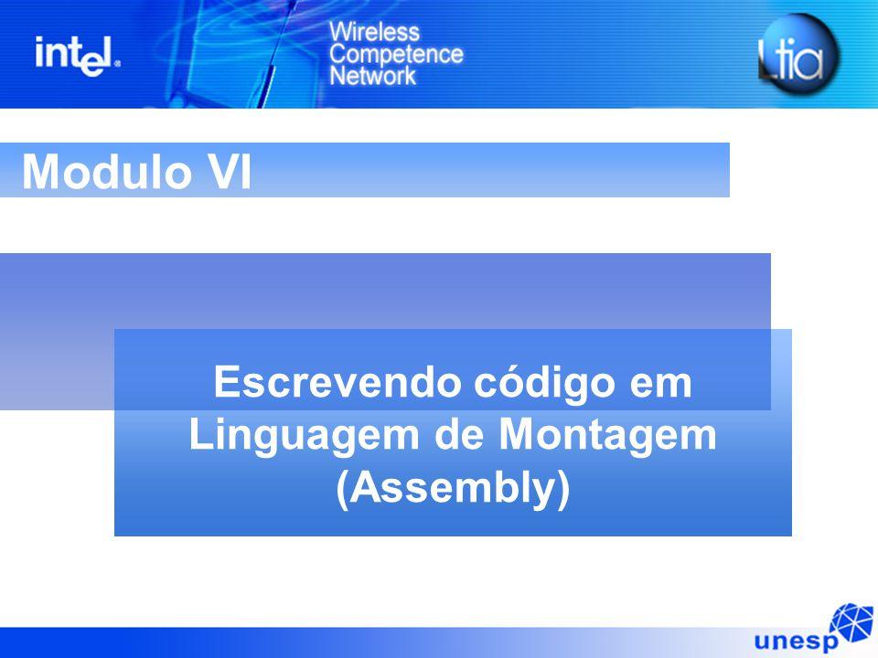 Modulo VI Escrevendo código em Linguagem de Montagem (Assembly)