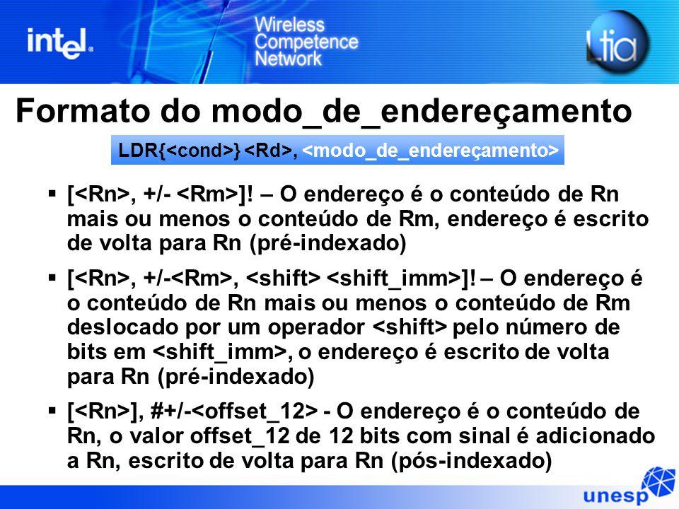 Formato do modo_de_endereçamento  [, +/- ].