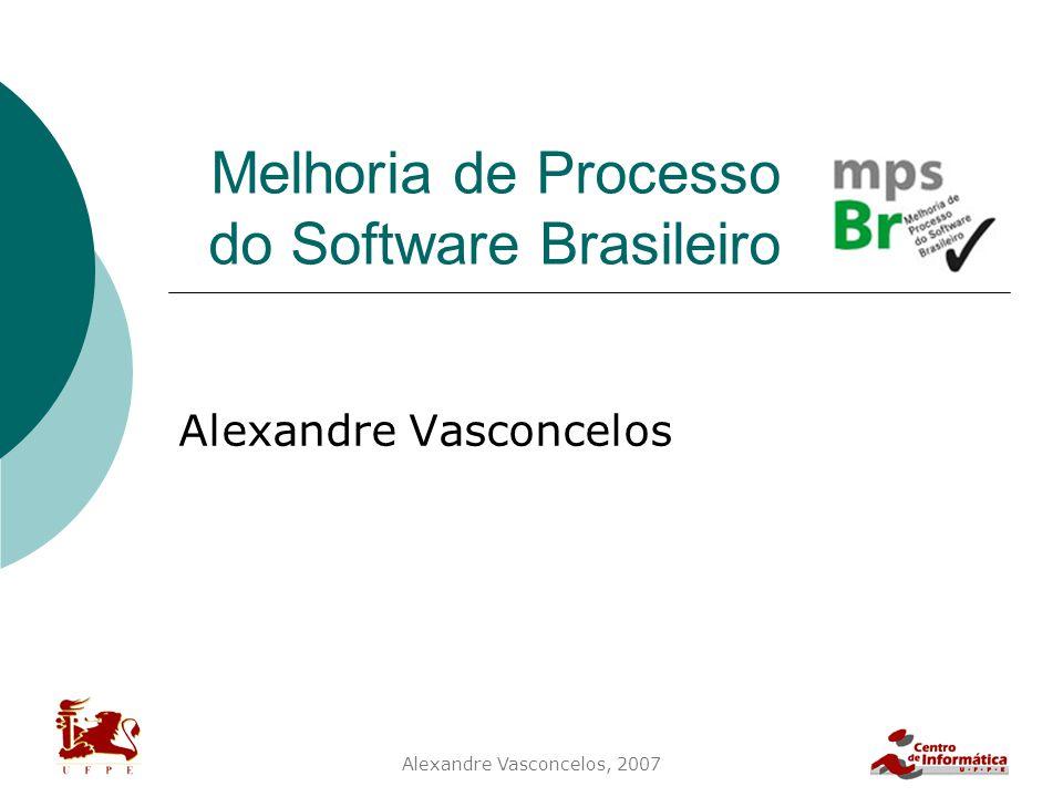 Alexandre Vasconcelos, 2007 Melhoria de Processo do Software Brasileiro Alexandre Vasconcelos