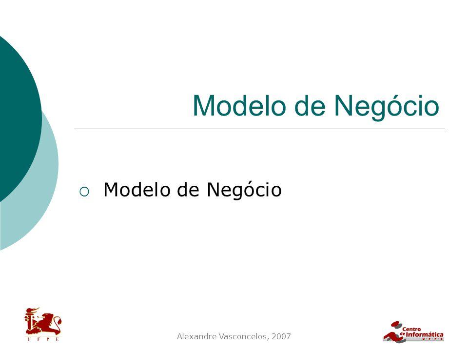 Alexandre Vasconcelos, 2007 Modelo de Negócio  Modelo de Negócio