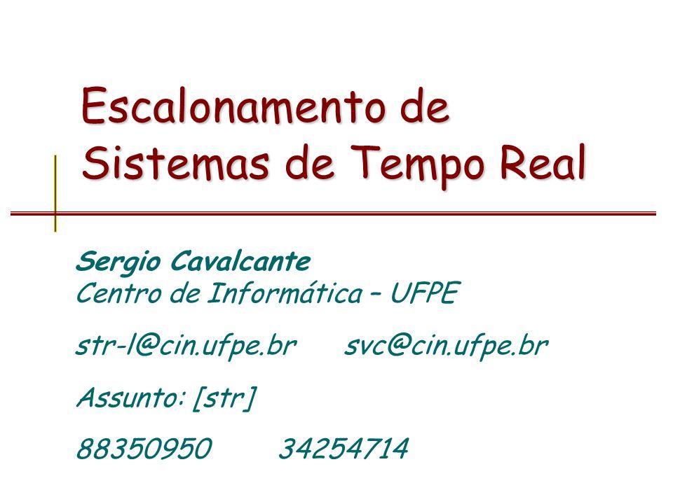 Sérgio Cavalcante - CIn/UFPE Sistemas de Tempo Real 12Escalonamento Offline –Quando a escala é definida em tempo de projeto Online –Quando a escala é definida em tempo de execução Obviamente é impossível ter um algoritmo que seja offline dinâmico.