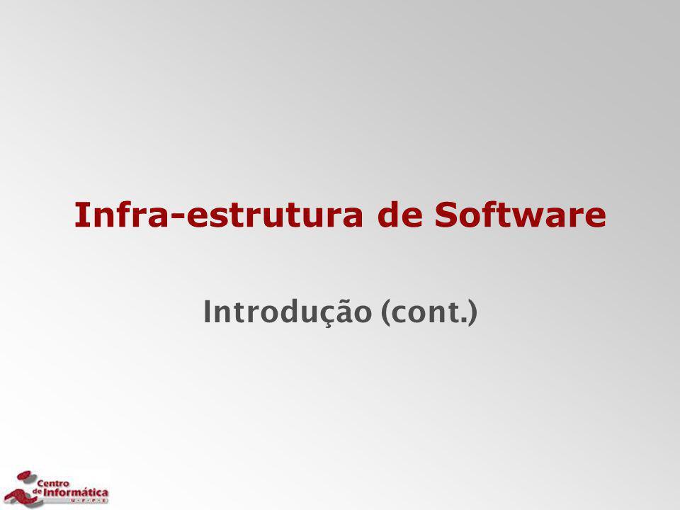 Infra-estrutura de Software Introdução (cont.)