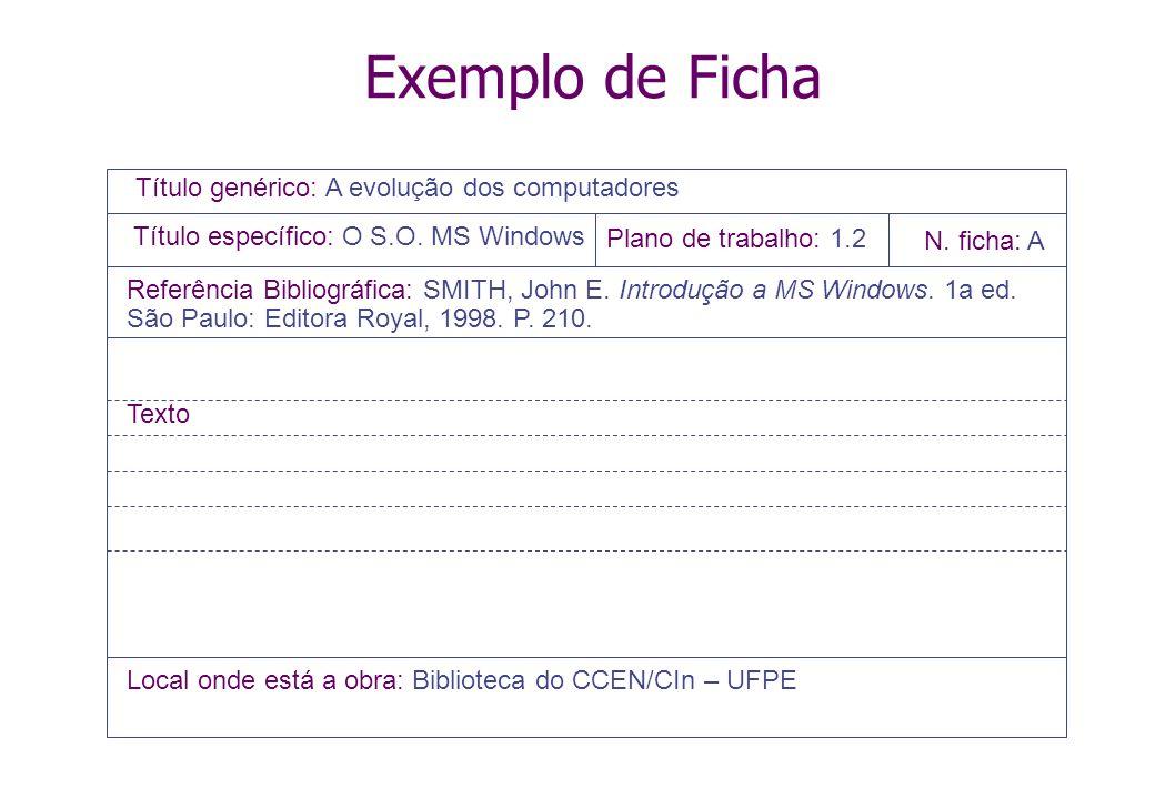15 Pesquisa Bibiográfica Etapas (de novo...) Identificação, seleção, compilação – OK Fichamento e Redação da revisão bibliográfica O que é Fichamento?