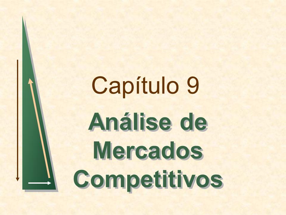 Capítulo 9Slide 2 Tópicos para Discussão Avaliação de Ganhos e Perdas Resultantes de Políticas Governamentais: Excedentes do Consumidor e do Produtor Eficiência do Mercado Competitivo Preços Mínimos