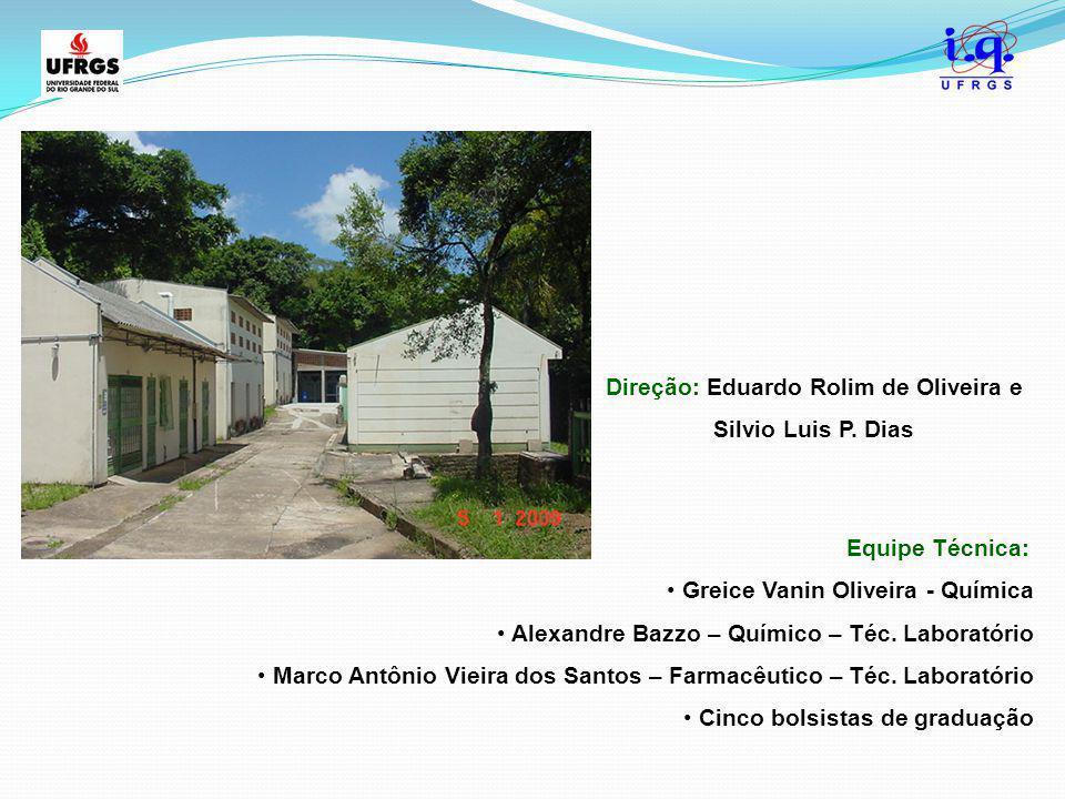 Equipe Técnica: Greice Vanin Oliveira - Química Alexandre Bazzo – Químico – Téc. Laboratório Marco Antônio Vieira dos Santos – Farmacêutico – Téc. Lab