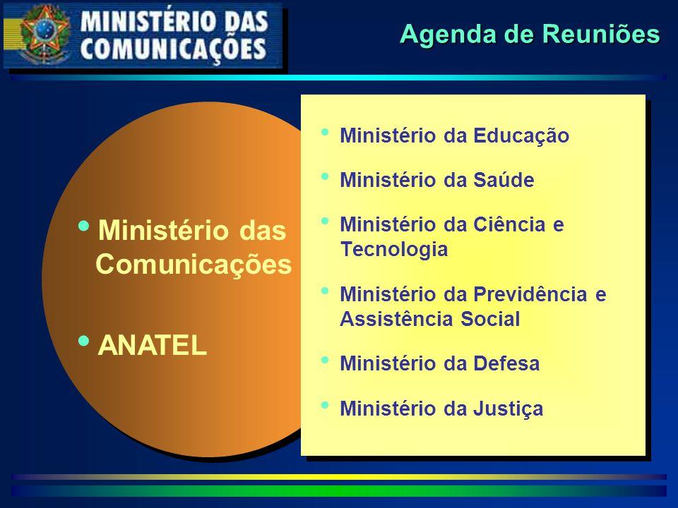 Agenda de Reuniões   Ministério da Educação   Ministério da Saúde   Ministério da Ciência e Tecnologia   Ministério da Previdência e Assistênc
