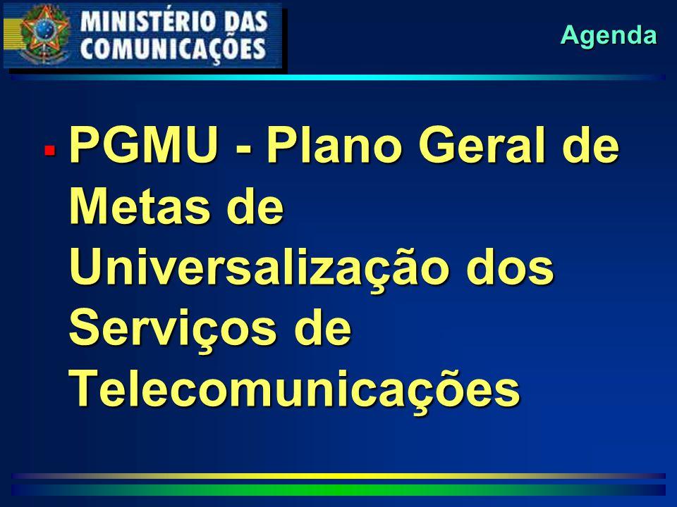 Agenda  PGMU - Plano Geral de Metas de Universalização dos Serviços de Telecomunicações