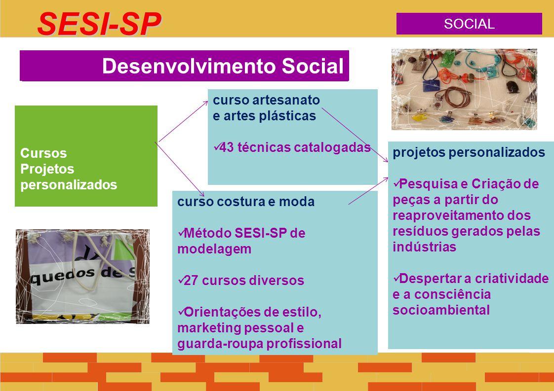 Cursos Projetos personalizados desenvolvimento social curso artesanato e artes plásticas 43 técnicas catalogadas curso costura e moda Método SESI-SP d