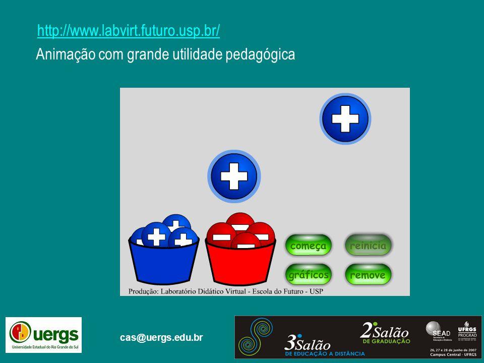 cas@uergs.edu.br http://www.labvirt.futuro.usp.br/ Animação com grande utilidade pedagógica
