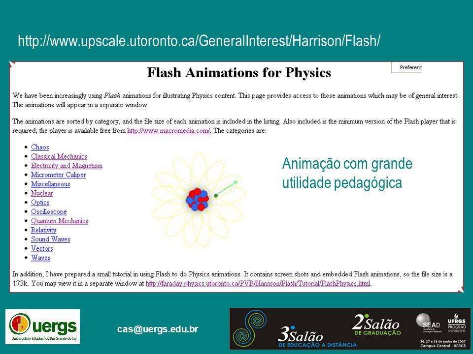 cas@uergs.edu.br http://www.upscale.utoronto.ca/GeneralInterest/Harrison/Flash/ Animação com grande utilidade pedagógica