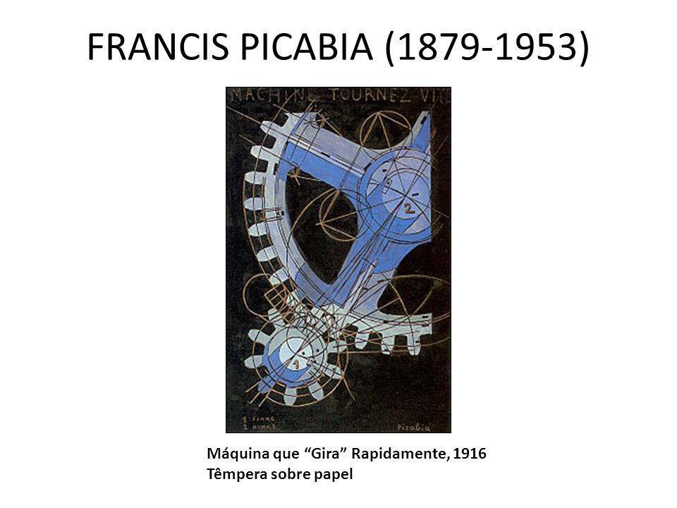 "FRANCIS PICABIA (1879-1953) Máquina que ""Gira"" Rapidamente, 1916 Têmpera sobre papel"