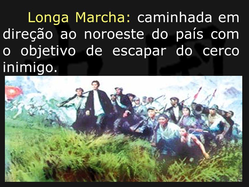 Longa Marcha: caminhada em direção ao noroeste do país com o objetivo de escapar do cerco inimigo.