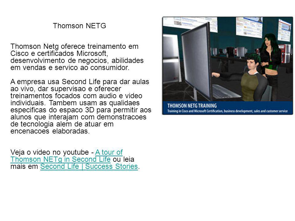 Thomson Netg oferece treinamento em Cisco e certificados Microsoft, desenvolvimento de negocios, abilidades em vendas e servico ao consumidor.