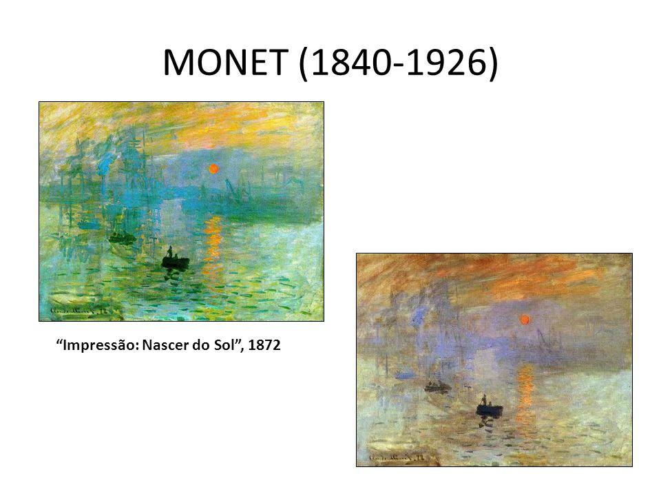 """MONET (1840-1926) """"Impressão: Nascer do Sol"""", 1872"""