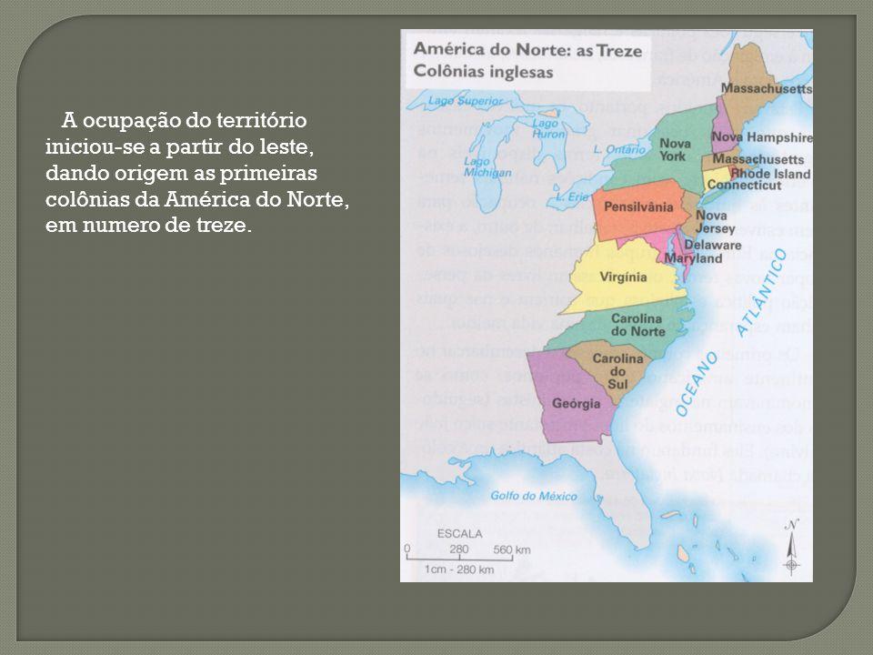 O primeiros colonos ingleses a desembarcar no continente americano eram os puritanos. Eles fundaram na costa atlântica uma colônia chamada Nova Inglat