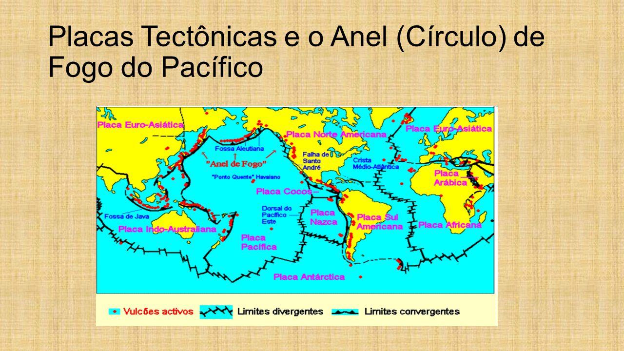 Placas Tectônicas e o Anel (Círculo) de Fogo do Pacífico