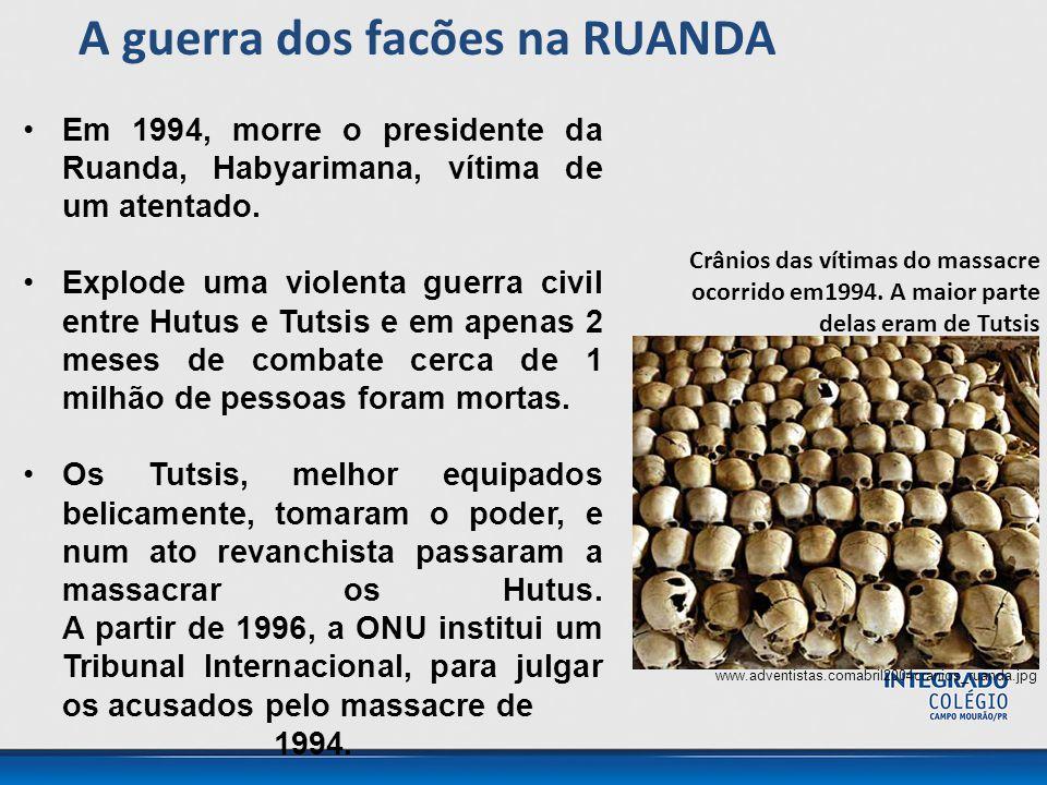 Em 1994, morre o presidente da Ruanda, Habyarimana, vítima de um atentado.