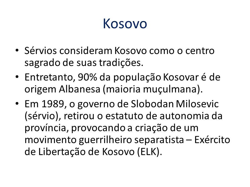 Kosovo Sérvios consideram Kosovo como o centro sagrado de suas tradições.