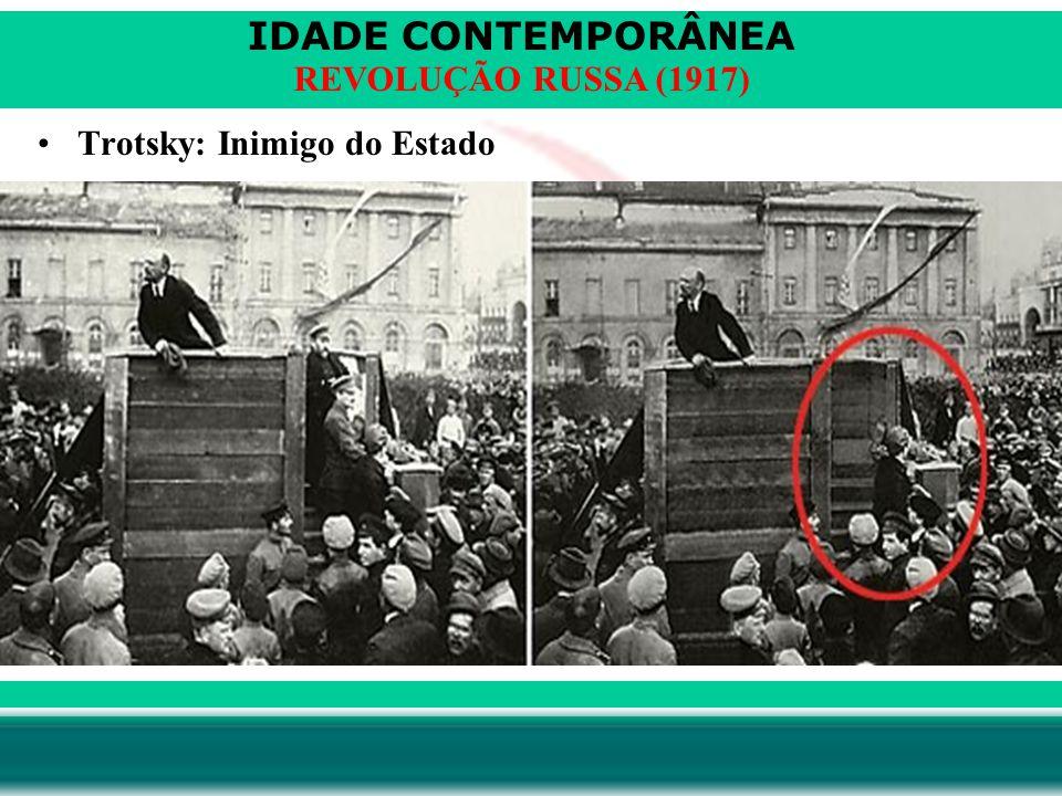 IDADE CONTEMPORÂNEA Prof. Iair iair@pop.com.br REVOLUÇÃO RUSSA (1917) Trotsky: Inimigo do Estado
