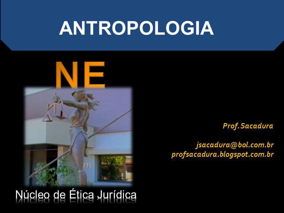 ANTROPOLOGIA Prof. Sacadura jsacadura@bol.com.br profsacadura.blogspot.com.br