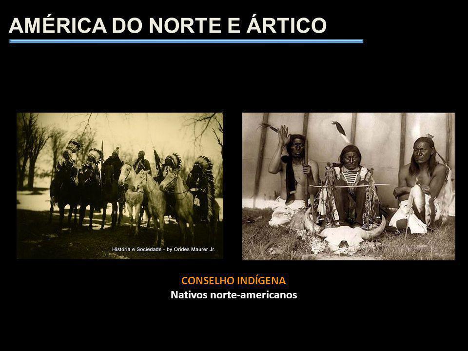 AMÉRICA DO NORTE E ÁRTICO CONSELHO INDÍGENA Nativos norte-americanos