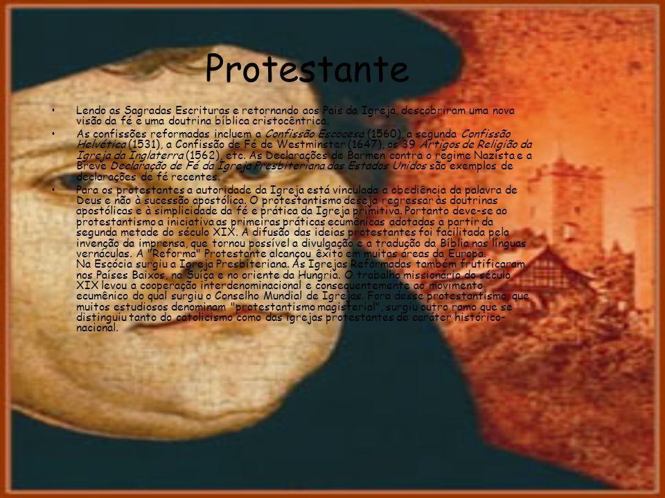 Protestante Lendo as Sagradas Escrituras e retornando aos Pais da Igreja, descobriram uma nova visão da fé e uma doutrina bíblica cristocêntrica. As c