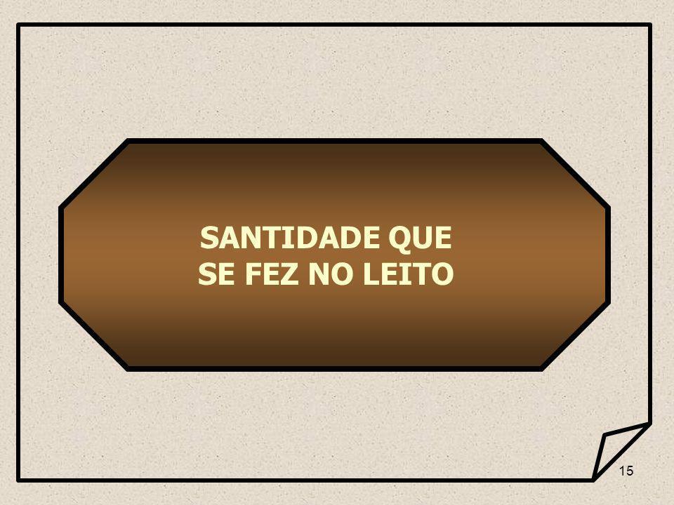 15 SANTIDADE QUE SE FEZ NO LEITO