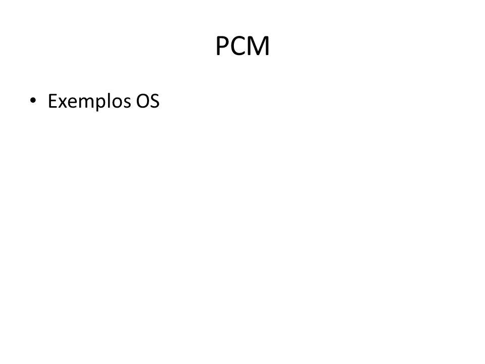 PCM Exemplos OS