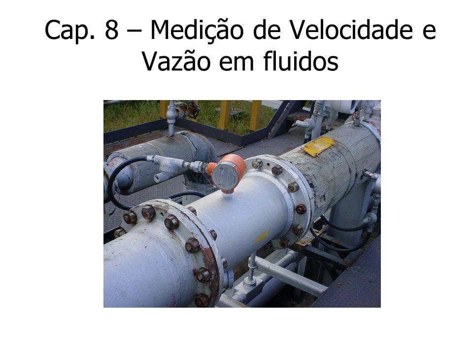 Cap. 8 – Medição de Velocidade e Vazão em fluidos