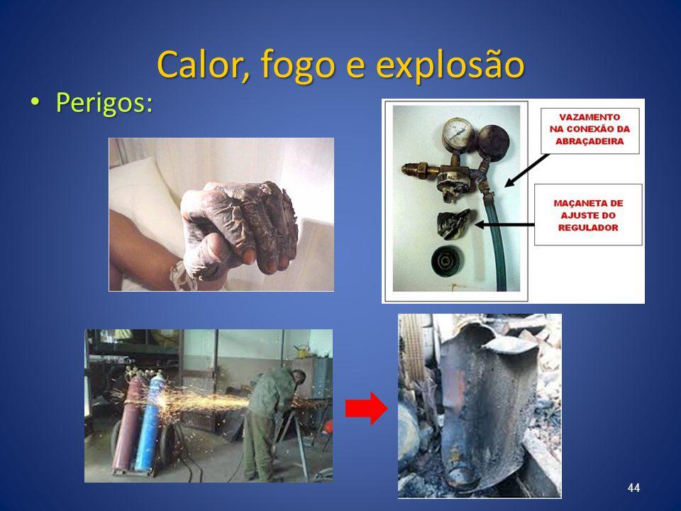Calor, fogo e explosão Perigos: Perigos: 44
