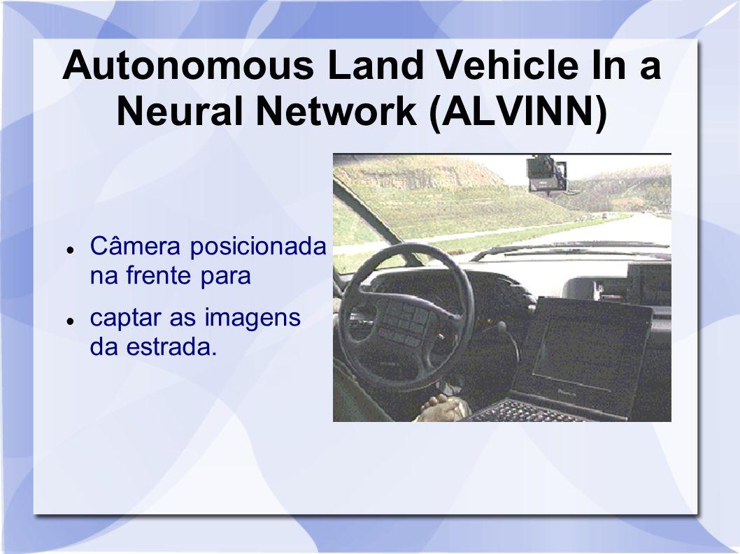 Autonomous Land Vehicle In a Neural Network (ALVINN) Câmera posicionada na frente para captar as imagens da estrada.