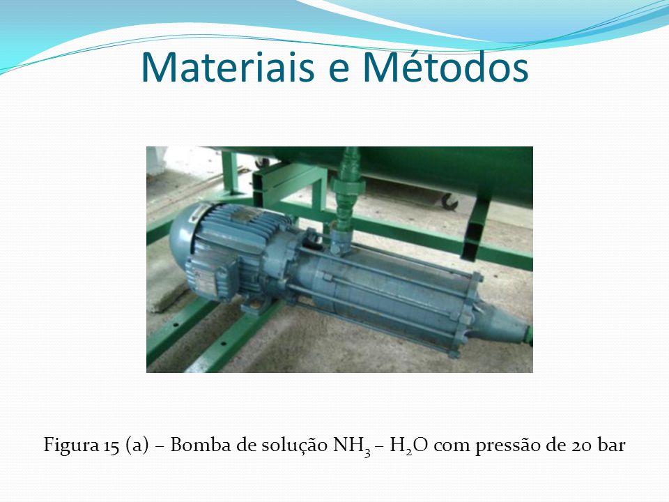 Materiais e Métodos Figura 15 (a) – Bomba de solução NH 3 – H 2 O com pressão de 20 bar