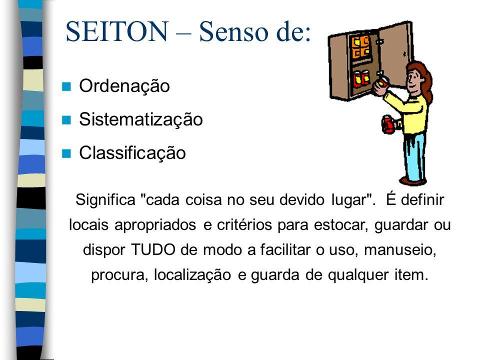SEITON – Senso de: Ordenação Sistematização Classificação Significa
