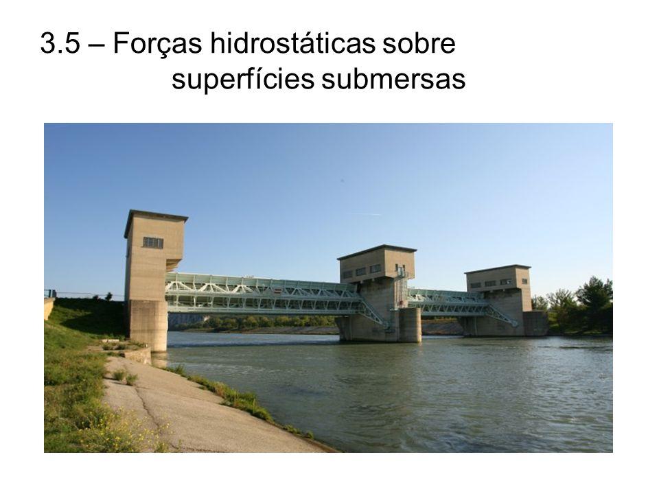 3.5 – Forças hidrostáticas sobre superfícies submersas