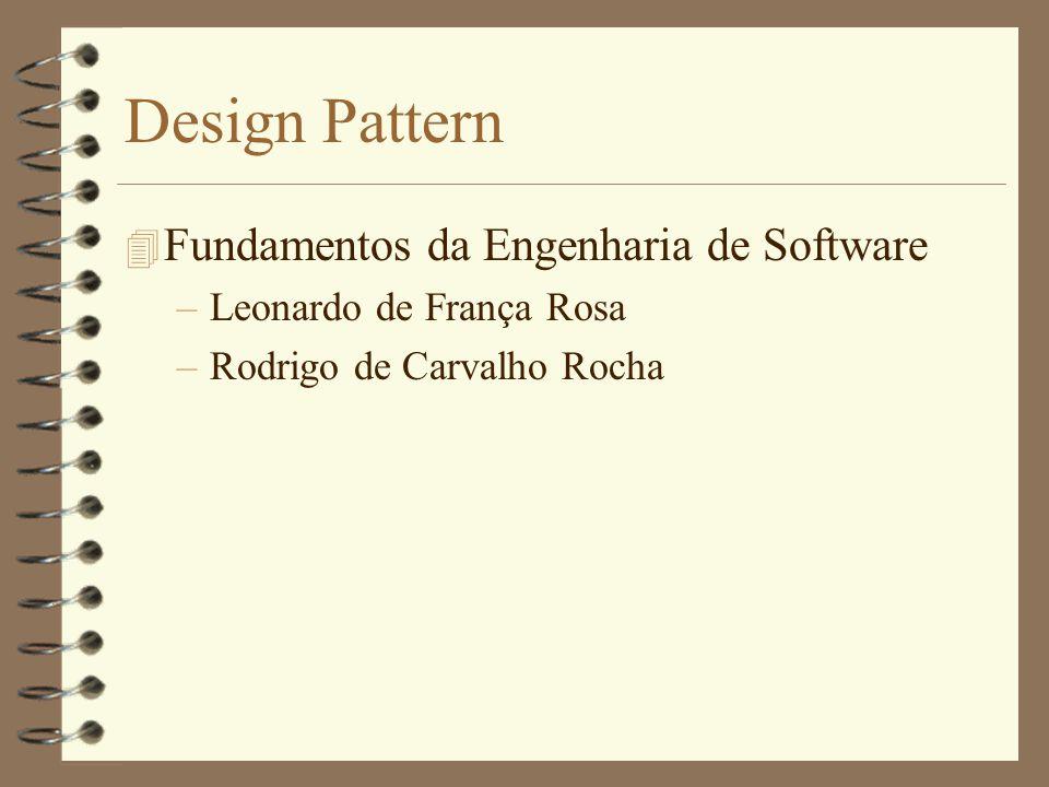 Design Pattern 4 Fundamentos da Engenharia de Software –Leonardo de França Rosa –Rodrigo de Carvalho Rocha