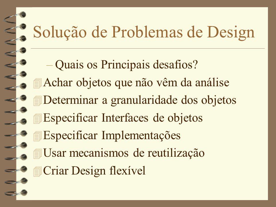 Solução de Problemas de Design –Quais os Principais desafios.