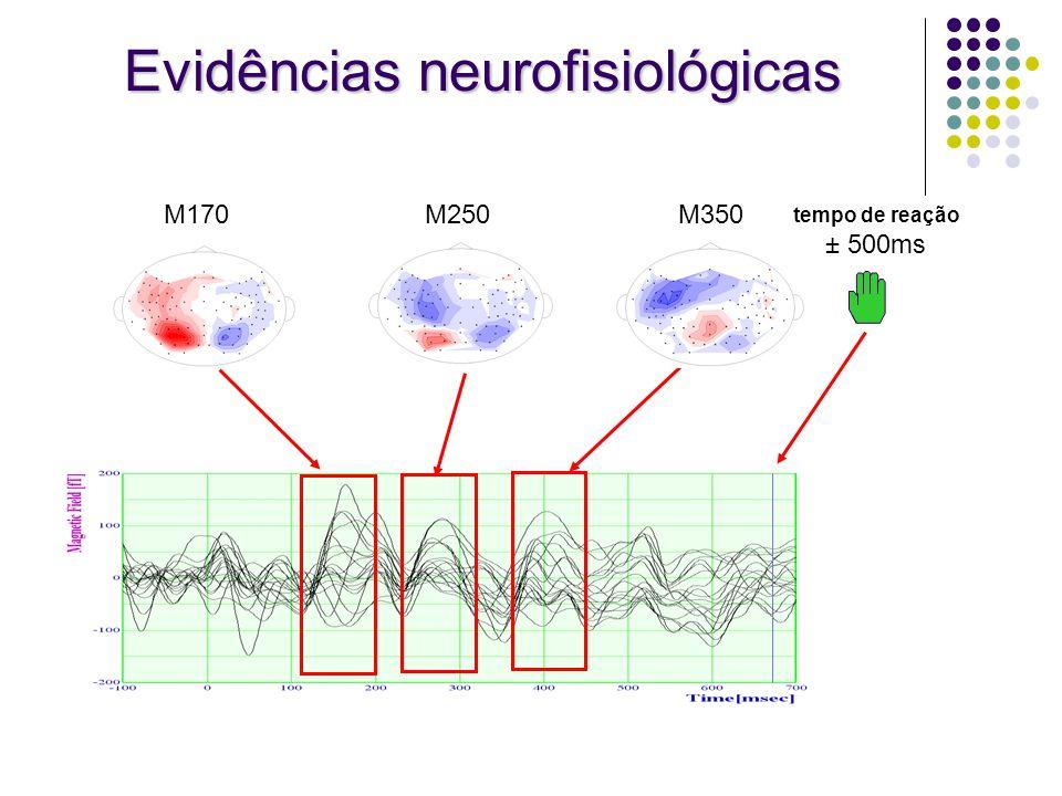 tempo de reação ± 500ms M170M250M350 Evidências neurofisiológicas