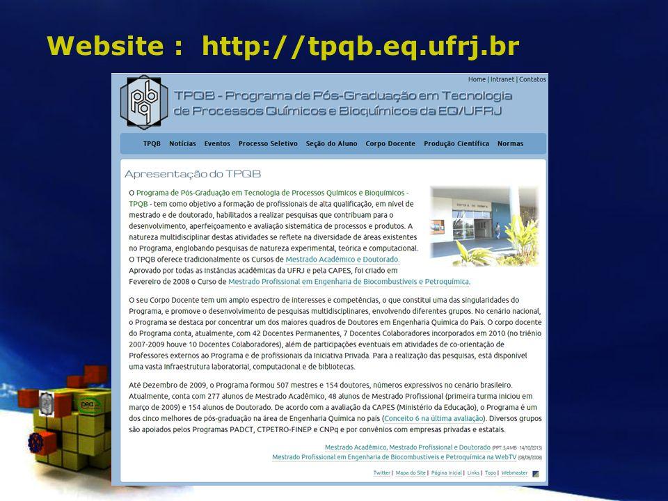 Website : http://tpqb.eq.ufrj.br