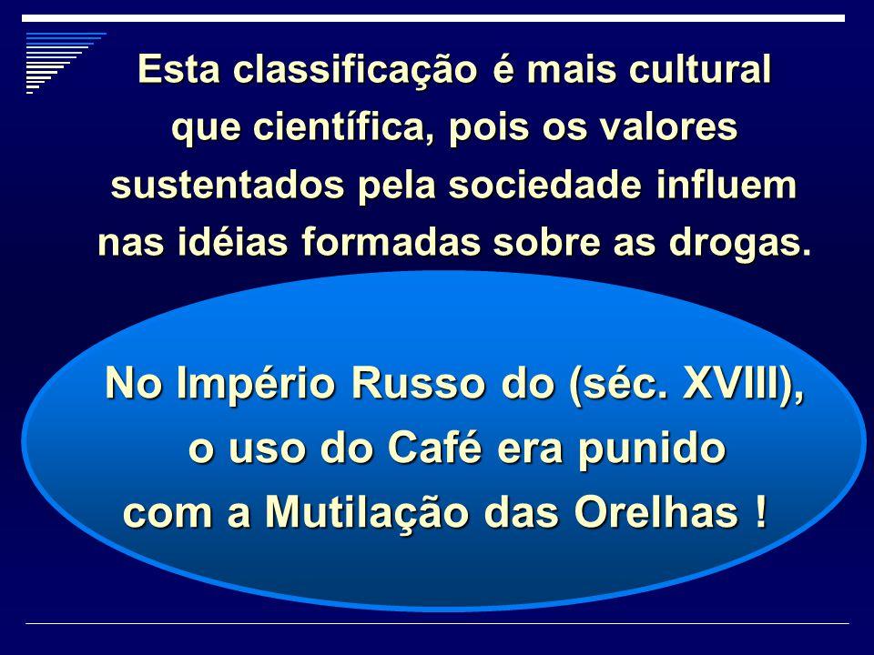 No Império Russo do (séc. XVIII), o uso do Café era punido o uso do Café era punido com a Mutilação das Orelhas ! com a Mutilação das Orelhas ! Esta c